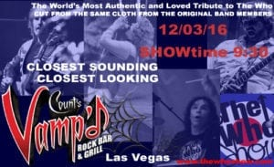 The Who Show Postcard Las Vegas 2016
