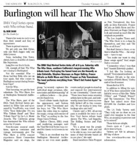 The Who Show in Burlington