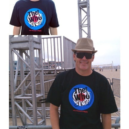 The Who Show - The Who Tribute Band - Male Black Tee