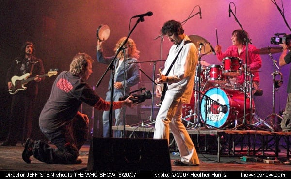 The Who Show Video Shoot